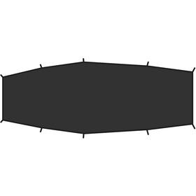 Fjällräven Shape 2 Footprint Suelo Tienda, black